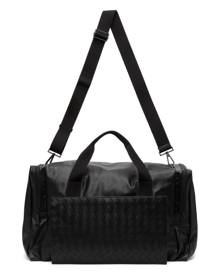 Bottega Veneta Black Intrecciato Packable Duffle Bag