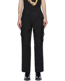 Moschino Black Plain Cargo Pants