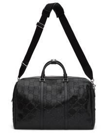 Gucci Black Gucci Signature Weekender Duffle Bag