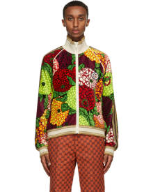 Gucci Multicolor Velvet Floral Jacket
