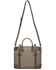 Gucci Beige GG Supreme Weekender Duffle Bag