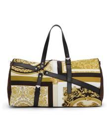 Versace Black Barocco Bondage Duffle Bag