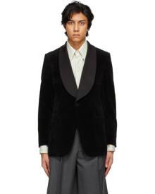 Gucci Black Velvet Contrast Collar Blazer