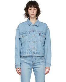 Levis Blue Denim Heritage-Fit Trucker Jacket