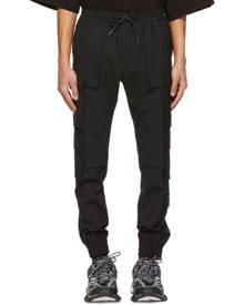 Juun.J Black Wool Multi-Pocket Jogger Cargo Pants