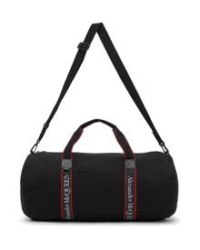 Alexander McQueen Black and Red Selvege Metropolitan Duffle Bag