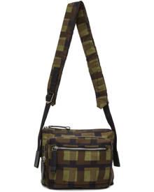 Dries Van Noten Khaki Len Lye Edition Nylon Messenger Bag