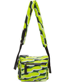 Dries Van Noten Yellow and Green Len Lye Edition Nylon Messenger Bag