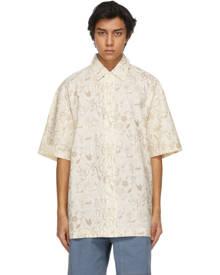Jacquemus Beige Flowers La Chemise Moisson Short Sleeve Shirt