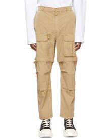Juun.J Beige Detachable Knee Cargo Pants