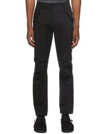 4SDESIGNS Black Combo Cargo Pants