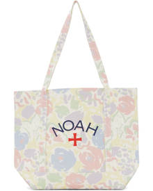 Noah White Recycled Canvas Floral Core Logo Tote