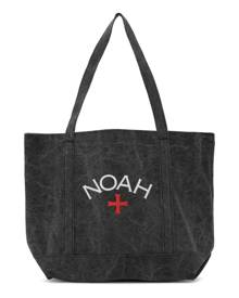 Noah Black Recycled Canvas Core Logo Tote
