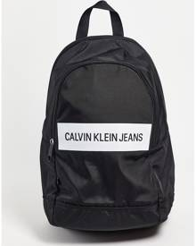 Calvin Klein Jeans backpack with panel logo in black