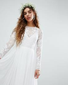 ASOS EDITION Embroidered Bodice Wedding Maxi Dress - White