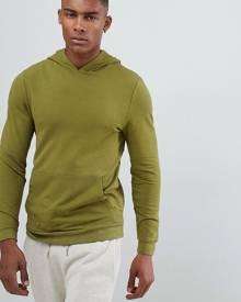 ASOS DESIGN muscle hoodie in khaki - Green