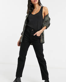 Reclaimed Vintage The '91 mom jean in washed black - Black