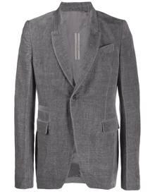 Rick Owens velvet blazer - Grey