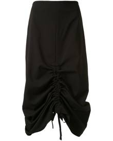 Goen.J ruched midi skirt - Black