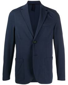 Harris Wharf London textured single-breasted blazer - Blue