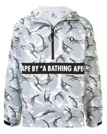 AAPE BY *A BATHING APE® graphic print windbreaker - Grey