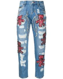 Philipp Plein Boyfriend Teddy Bear jeans - Blue