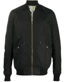 Rick Owens abstract print bomber jacket - Black