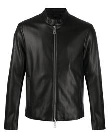Armani Exchange faux leather bomber jacket - Black