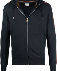 PAUL SMITH side-stripe zip hoodie - Blue