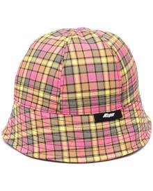 MSGM check print bucket hat - Pink