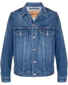 Doublet graphic print denim jacket - Blue