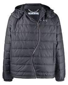 Off-White twist-zip logo puffer jacket - Grey