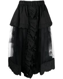 Simone Rocha layered tulle midi full skirt - Black