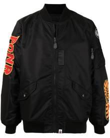 A BATHING APE® Shark MA-1 lightweight bomber jacket - Black
