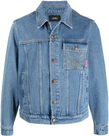 PACCBET rassvet-embroidered denim jacket - Blue