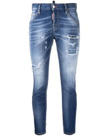 Dsquared2 ripped detailing skinny jeans - Blue