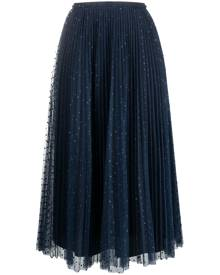 RED Valentino tulle midi skirt - Blue