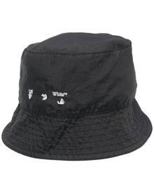 Off-White logo-print bucket hat - Black