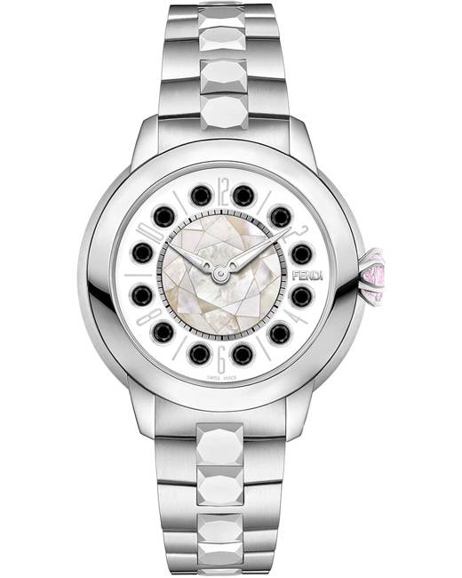 Fendi watch with topaz detail - Metallic