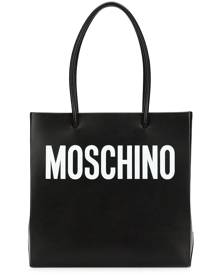 Moschino square logo shopper tote - Black