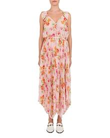 byTiMo Synthetic Floral print Crepe De Chine Maxi Dress in