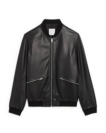 Sandro New Monaco Leather Bomber Jacket