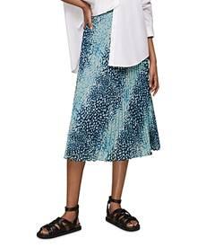 Whistles Dalmatian Pleated Midi Skirt