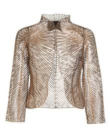 Giorgio Armani Metallic Leather Applique Jacket
