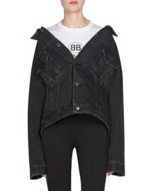 Balenciaga Denim Swing Jacket