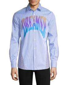 Paul Smith Paneled Pinstripe Button-Down Shirt