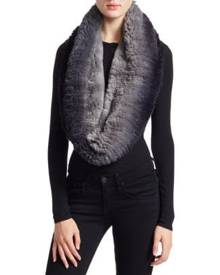 517c20d696 Knitted Rabbit Fur Infinity Scarf