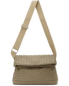 Bottega Veneta Taupe Medium Intrecciato Messenger Bag