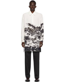 UNIFORME White Abdelkader Benchamma Edition Oversized Printed Shirt