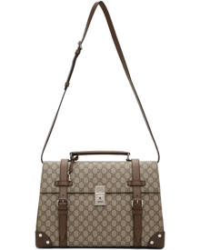 Gucci Brown Medium GG Briefcase Duffle Bag